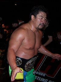Sasaki im September 2008 als GHC Heavyweight Champion