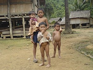 Khmuic peoples - Image: Khmu children in Laos