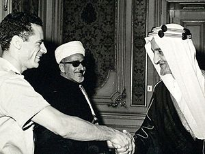 Faisal of Saudi Arabia - King Faisal with Muammar Gaddafi early 1970s