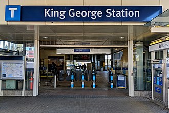 King George station - West entrance to the King George stationhouse