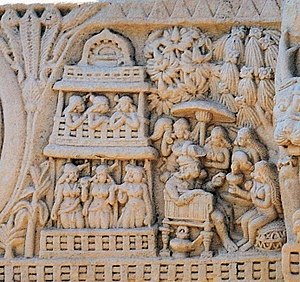Malla (India) - King of the Mallas of Kushinagara, under siege by the seven kings during the War of the Relics. Sanchi.