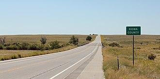 U.S. Route 287 in Colorado - View south along U.S. Highway 287 entering Kiowa County