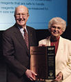 Kitty Hach Darrow, Arnold Thackray-2003 Pittcon Award.jpg