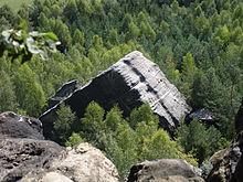 Klamotte - Überbleibsel eines Felssturzes am Pfaffenstein, Quelle Wikipedia