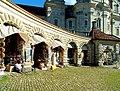 Kloster Einsiedeln. Arkade von Kloster.jpg