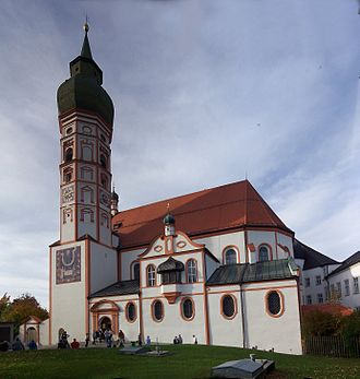 Andechs Abbey - View of the Abbey.