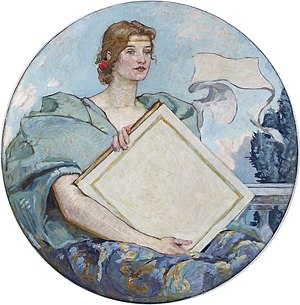 Knowledge, mural by Robert Lewis Reid. Second ...