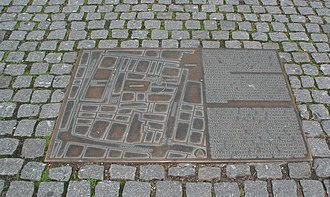 History of the Jews in Cologne - Plan of the Jewish quarter on Rathausplatz