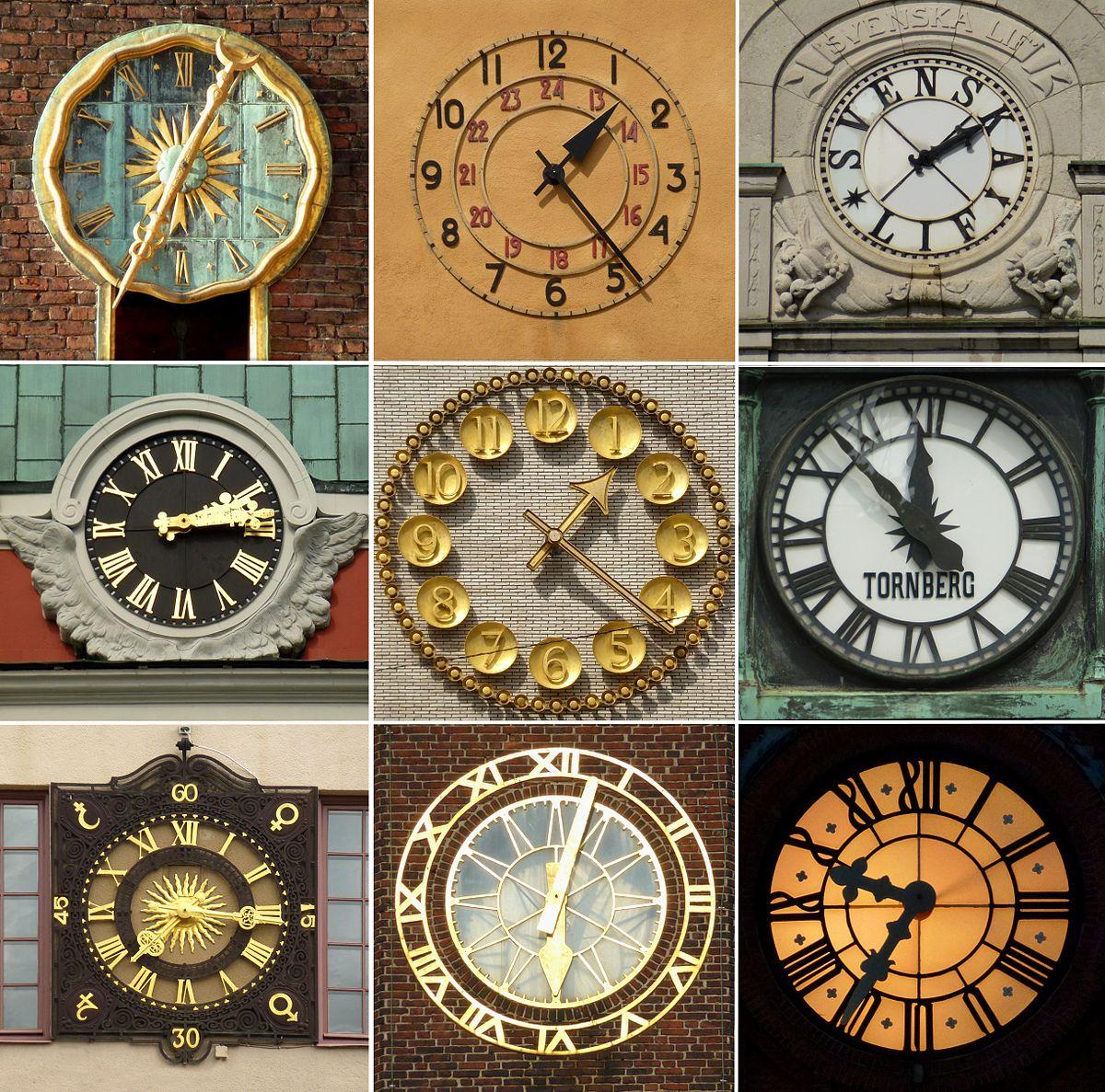 klocka med stora siffror