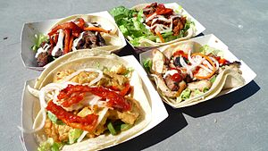 Korean tacos from Seoul on Wheels truck in the...