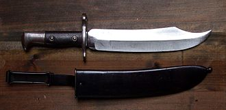Bowie knife - Krag Bowie bayonet US stamped, on the reverse date 1900