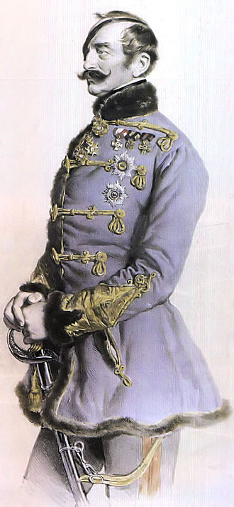 Franz Schlik - Lithograph by Josef Kriehuber, 1849