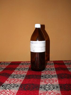 Ether addiction - Bottle of diethyl ether from Slovakia