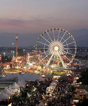 Fairplex - L.A. County Fair at dusk, 2008