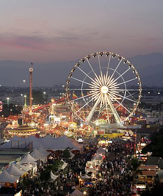 Los Angeles County, California - L.A. County Fair at dusk, 2008