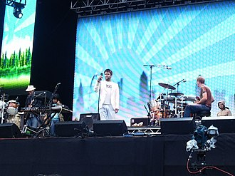 LCD Soundsystem performing in Madrid in 2005 LCD Soundsystem Hyde Park Wireless Festival (27922010).jpg
