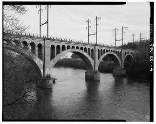 Manayunk Bridge rail trail bridge over the Schuylkill River in Pennsylvania
