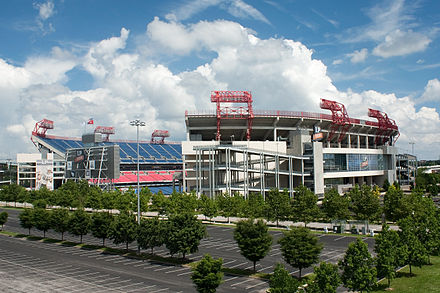 Nissan Stadium, home of the Tennessee Titans LP Field 2009 crop.jpg