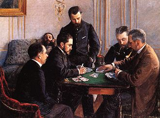 Bezique - Gustave Caillebotte The Bezique Game (1881), Louvre Abu Dhabi.