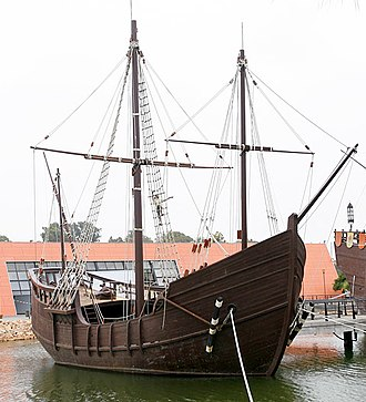 Martín Alonso Pinzón - Replica of the caravel Pinta at the Wharf of the Caravels in Palos.