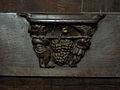 La Guerche-de-Bretagne (35) Basilique Stalle 06 Miséricorde.JPG