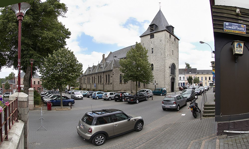 Saint-Nicolas church in La Hulpe, Belgium