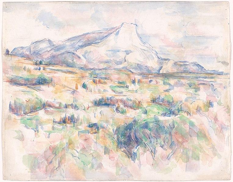 File: La Montagne Sainte-Victoire vue des Lauves, par Paul Cézanne, RW595 MoMA.jpg