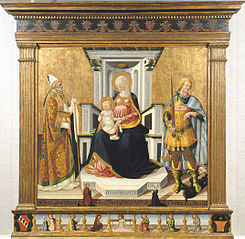 La Vierge et l'Enfant avec saint Michel et saint Blaise