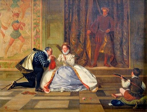 La reine Elisabeth 1ere et Leicester-William Frederick Yeames-MBA Lyon 2014