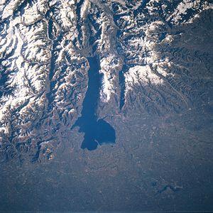 Garda Mountains - Satellite picture of Lake Garda