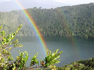 God of the rainbow in the Muisca religion of South America