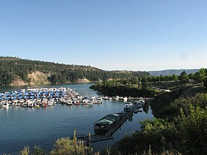 Lake Roosevelt National Recreation Area - View from Two Rivers Marina