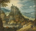 Landscape with a Fortress (Marten Rijckaert) - Nationalmuseum - 23786.tif