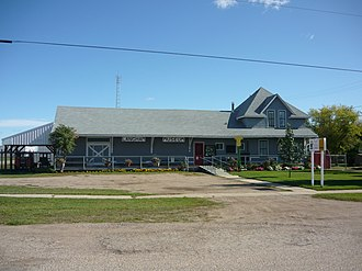 Langham, Saskatchewan - Heritage Museum and Library in former CNR station