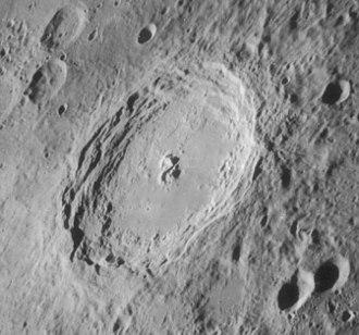Langrenus (crater) - Oblique Lunar Orbiter 4 image