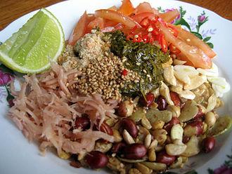 Burmese cuisine - Lahpet, a popular delicacy