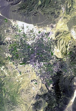 Las Vegas Valley (landform) - Image: Las Vegas Satellite Map