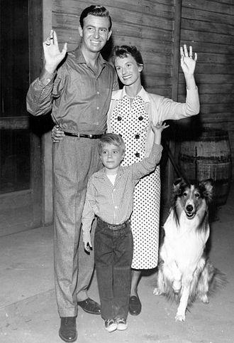 Cloris Leachman - Jon Shepodd, Jon Provost and Cloris Leachman in Lassie (1957)