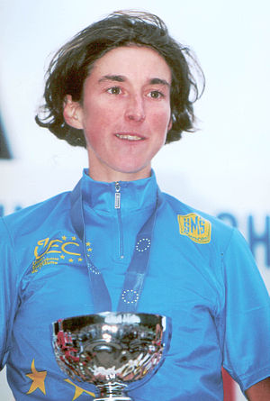 Laurence Leboucher - Winner of the cross-country event at the 1998 European Mountain Bike Championships