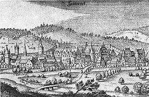 Lauterecken - View according to Matthäus Merian