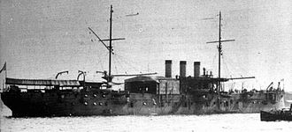Seaplane tender - The first seaplane carrier, the French Foudre in 1912, with plane hangar and cranes.