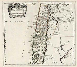 1751 Concepción earthquake - Image: Le Chili Divise en ses Treize Iurisdictions
