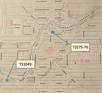 Henry Le Cren - Town sections bought by Longden and Le Cren in central Christchurch