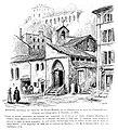 Le Lyon de nos pères, Vingtrinier et Drevet, 1901, page 285, dessin de Joannès Drevet, ancienne chapelle du prieuré de Saint-Martin de la Chana sur le quai de Pierre Scize.jpg