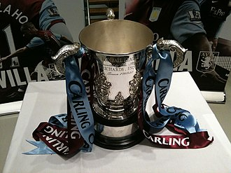 1960–61 Football League Cup - A replica League Cup in Villa colours, on display in 2010
