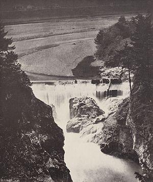 Füssen - Lech Falls in 1857.