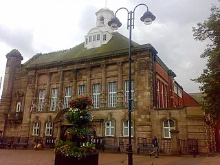 Leigh Town Hall grade II listed seat of local government in the United kingdom