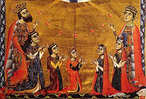 Keran, Queen of Armenia - Leon II, queen Guerane, and their five children, 1272.