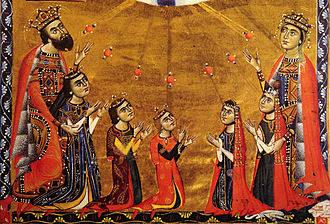 Keran, Queen of Armenia - Leon II, queen Guerane, and their five children, 1272.