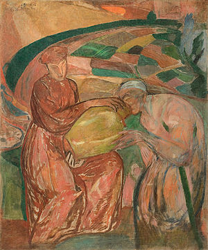 """Leopold Gottlieb - """"Compassion"""" (Miłosierdzie), 1913"""
